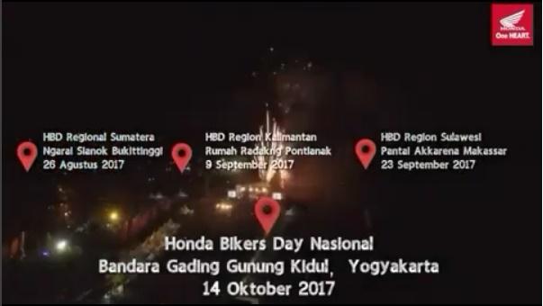 Honda Bikers Day 2017 regional Sumatera, jangan lupa 26 Agustus kawan!!