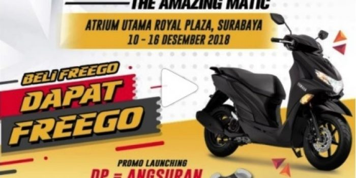 Beli Yamaha FreeGo di Royal Plaza dapat Stand Holder HP Gratis !!